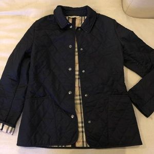 Burberry Navy Quilted Jacket